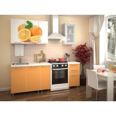 "Кухня ""Апельсин"" фотофасад 1.5м"