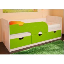 """Кровать детская """"Минима"""" (дуб атланта/лайм)"""