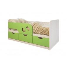 """Кровать детская """"Минима Лего"""" (дуб атланта/лайм глянец)"""