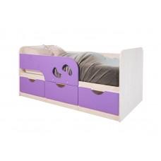 """Кровать детская """"Минима Лего"""" (дуб атланта/лиловый сад)"""